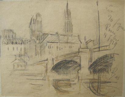 Gustave LOISEAU (1865-1935). Cathédrale...