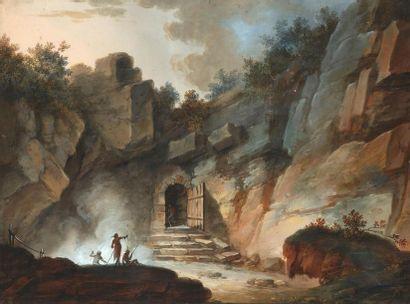 Ecole française du XVIIIe siècle Entrée de...