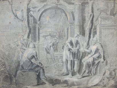 Ecole italienne fin du XVIIe siècle Un roi...