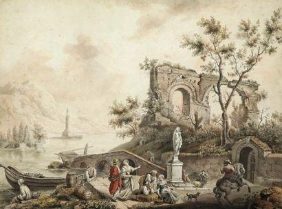 Ecole française du XVIIIe siècle dans le...