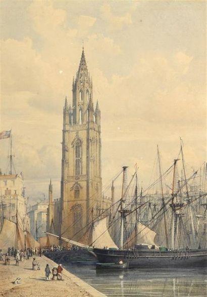 Hippolyte LEYMARIE (1809-1844) Vue du port...