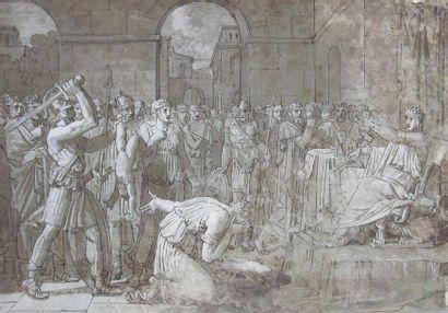 Ecole française du XIXe siècle Scène de jugement...