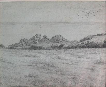 Ecole française du XIXe siècle Côte rocheuse...
