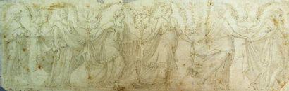 Ecole italienne du XVIe siècle Fresque les...