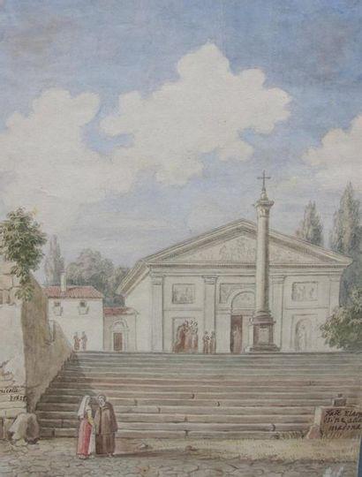 Victor Jean NICOLLE (1754-1826) Vue d'une...