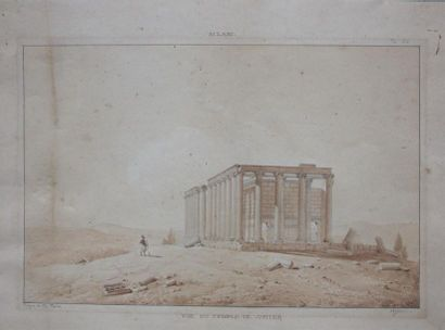 Charles TEXIER (1802-1871) Le temple de Jupiter...