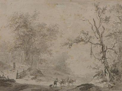 Abraham TEERLINK (1776-1857) La route du...