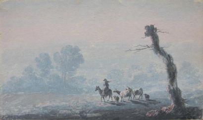 Jean-Baptiste PILLEMENT (1728-1808) Paysage...