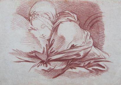 Ecole française du XVIIIe siècle Jeune fille...