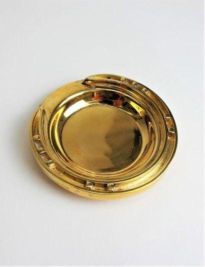 HERMES Paris Vide poche en bronze doré modèle...