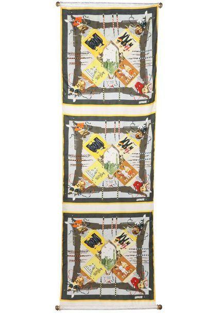HERMES Paris Rare banderole composée d'un...