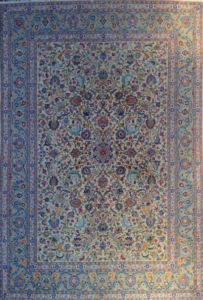 Important KACHAN ( Iran ) vers 1975/80. Velours...