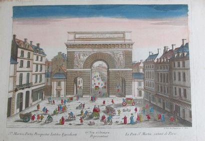 VUES d'OPTIQUE - VUES DE PARIS La Porte St...