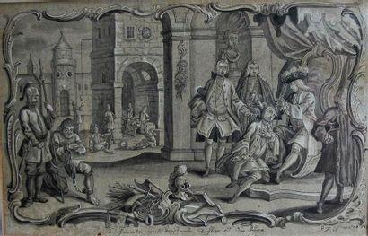 Johann David NESSENTHALER Ornemaniste, dessinateur...
