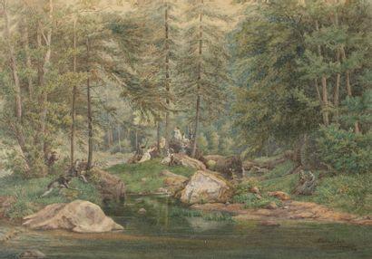 Oscar VAN ALVENSLEBEN (avant 1840-1903) Scène...