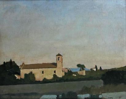 Louis BILLOTEY (1883-1940) Paysage italien,...