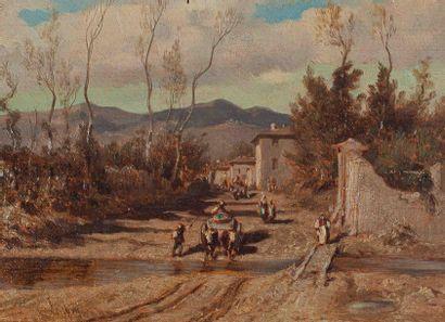 LOUBON Emile Charles Joseph (1809-1863) Paysage...