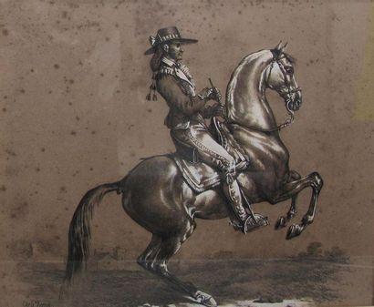 Carle VERNET (1758-1836) Deux gravures réhaussées...