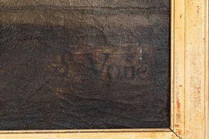 Ecole FRANCAISE du XVIIème siècle, atelier de Simon VOUET La Vierge au rideau Toile...