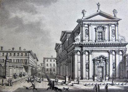 Attribué à ANTONIO SENAPE (1788 - 1850) Vue...