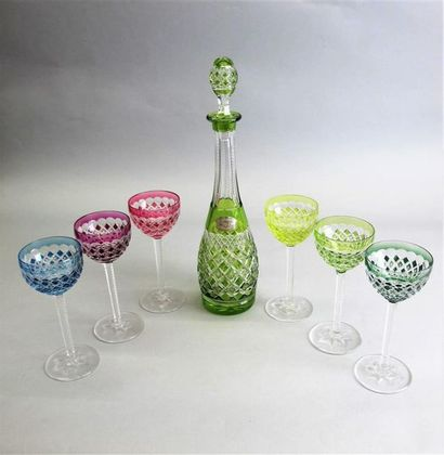 VAL SAINT LAMBERT Ensemble de six verres...