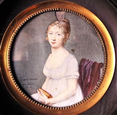 PONCE-CAMUS Marie-Nicolas (1778-1839) Miniature...