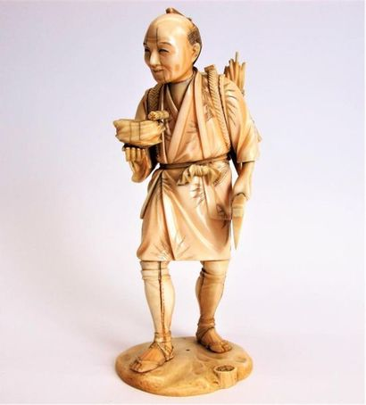 JAPON, période MEIJI (1868-1912) Okimono...