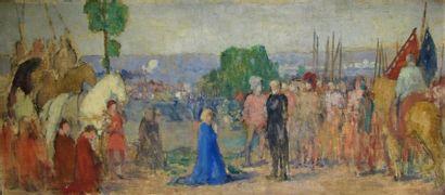 Louis BILLOTEY (1883-1940) Esquisse pour...