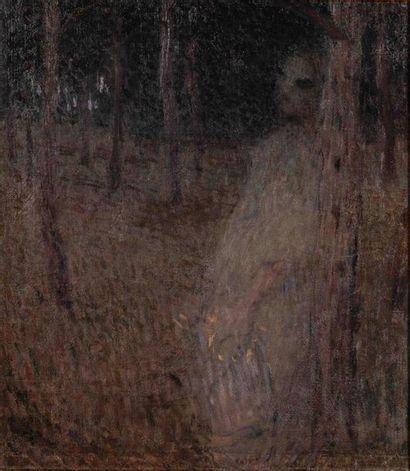 Ernest LAURENT (1859-1929). Femme voilée...