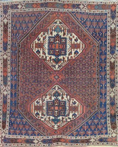 AFCHAR (Iran) milieu XX. Velours en laine...