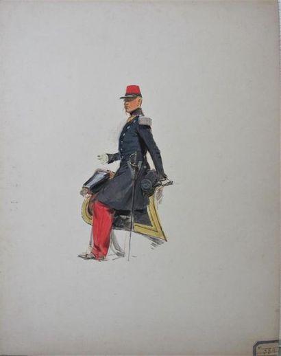 EDOUARD DETAILLE (1848-1912) Étude de capitaine...
