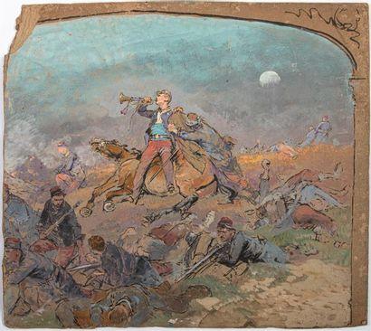 EDOUARD DETAILLE (1848-1912) Scène de la...