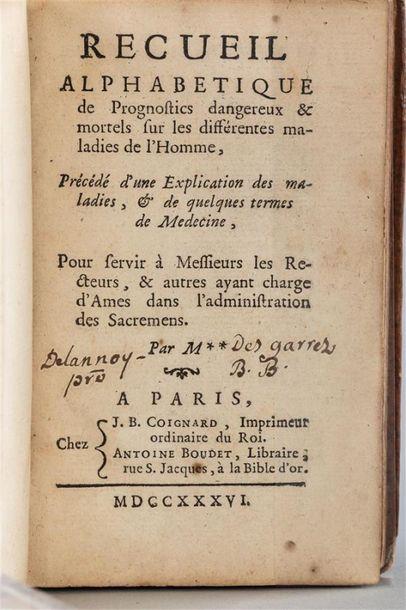 Elie COL de VILLARS . Recueil alphabétique...