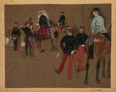EDOUARD DETAILLE (1848-1912) Général et son...