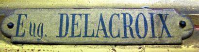 Eugène DELACROIX (1798-1863). Etude de cours d'eau. Huile sur toile portant au dos...