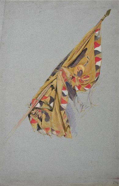 EDOUARD DETAILLE (1848-1912) Deux études...