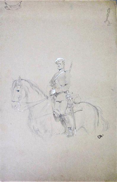 EDOUARD DETAILLE (1848-1912) Militaire étranger...