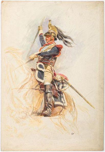 EDOUARD DETAILLE ( 1848-1912) Étude d'un...