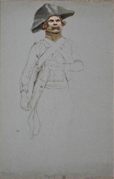 EDOUARD DETAILLE (1848-1912) Etude de soldat...