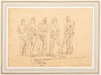 EDOUARD DETAILLE (1848-1912) Trente six études...