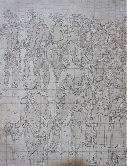 EDOUARD DETAILLE (1848-1912) Scène de recueillement...