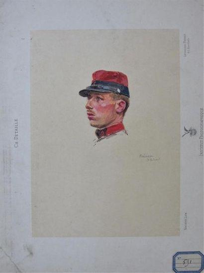 EDOUARD DETAILLE (1848-1912) Trois études...
