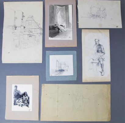 EDOUARD DETAILLE (1848-1912) Sept études...