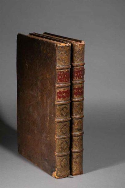 BIBLE de MORTIER. Histoire du Vieux et du...