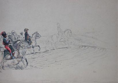 EDOUARD DETAILLE (1848-1912) Etude de scène...