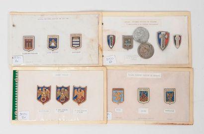 Bel ensemble d'insignes de GMR, Etat Major,...