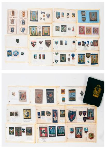 Album.  Rare et importante collection d'insignes...