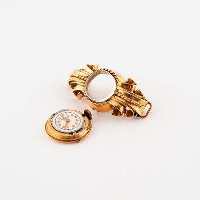 Boîtier de montre bracelet de dame en or...
