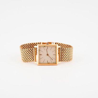 Montre bracelet d'homme en or jaune (750)...