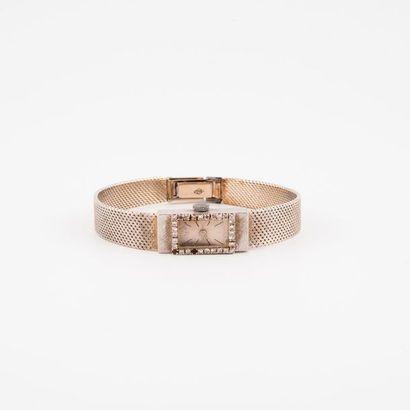 Montre bracelet de dame en or gris (750)....